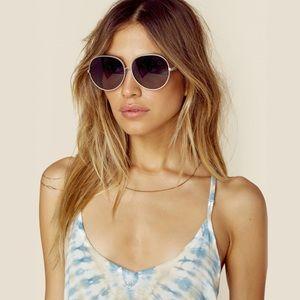 Wildfox fleur oversized hippie round sunglasses
